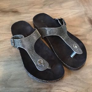 Silver Shiny Sandals